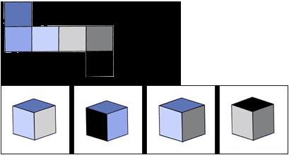 Räumliches Vorstellungsvermögen Test Beispiel