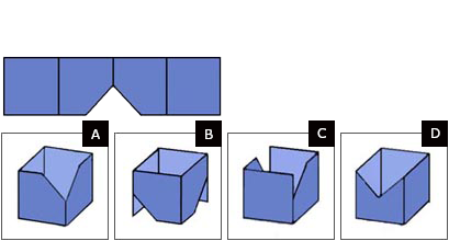 Spatial reasoning test easy question 2