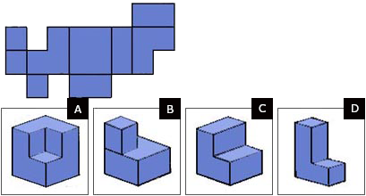 Spatial reasoning test easy question 5